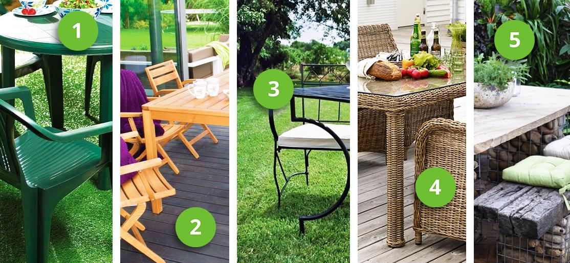 Разные виды мебели для сада