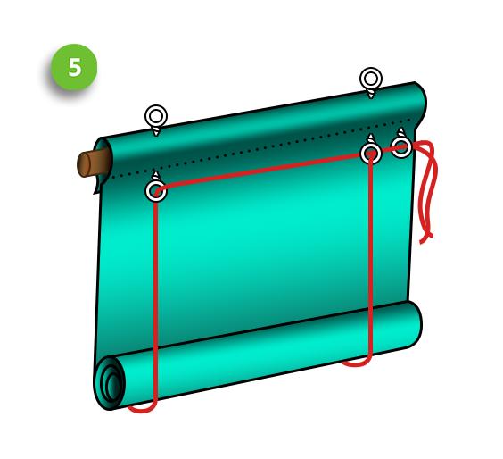 Рулонная штора - пошаговая инструкция