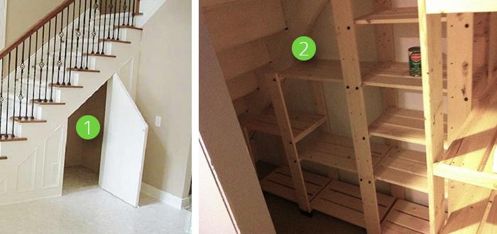 Чулан или кладовая под лестницей