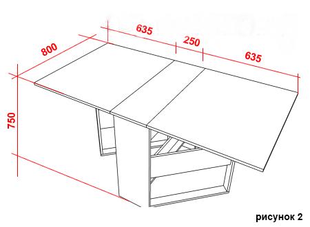 Как самостоятельно сделать стол-книжку 2