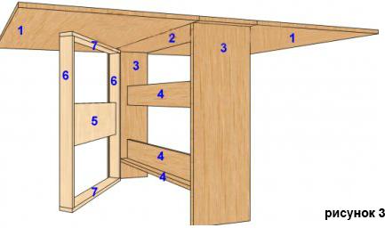 Как самостоятельно сделать стол-книжку 3