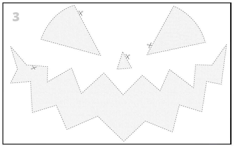 Шаблон-трафарет для хэллоуинской тыквы