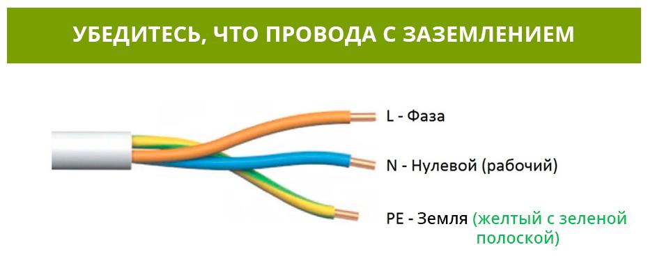 провода с заземлением