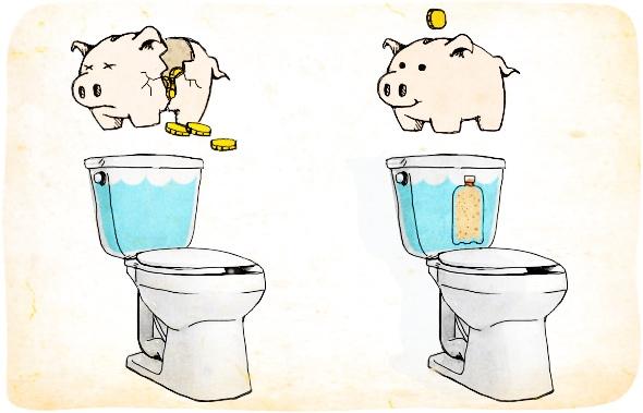 Экономия воды в ванной