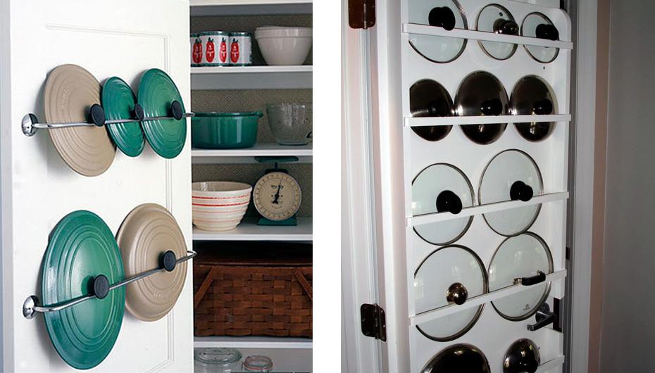 хранение на дверцах шкафчика